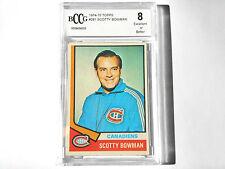 Scotty Bowman GRADED CARD!! Beckett BCCG 8!! 1974-75 Topps #261 HOFer! Canadiens