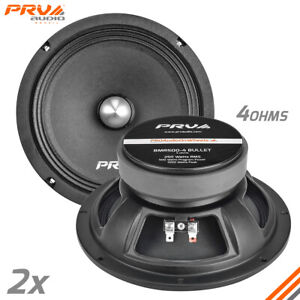 "2x PRV Audio 8MR500-4 BULLET Car Audio 8"" Midrange Bullet Speakers 500W 4 Ohms"