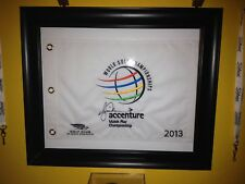 Autographed Tiger Woods Accenture Match Play Championship 2013 Golf Flag + Photo