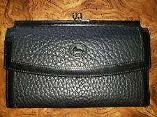 Vintage Leather Dooney & Bourke Kiss Lock Black Wallet made in USA