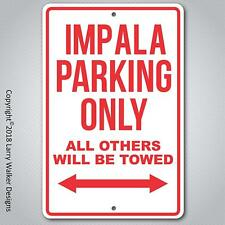 Chevy Impala Parking only Aluminum sign with All Weather UV Protective Coating