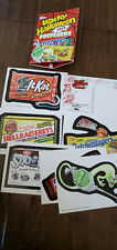 2013 TOPPS WACKY PACKAGES HALLOWEEN POSTCARD CARD SET OF 7 W/ SIGNED SAM GAMBIN