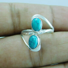 Adjustable Toe Ring Sz-7 btr-475 925 Sterling Silver Amazing Turquoise