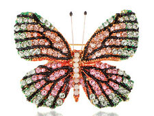Fashion Bling Crystal Rhinestone Butterfly Insect Bug Pin Brooch Gift