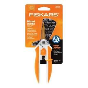Fiskars Easy Act Titanium Micro-Tip Scissors Multicoloured 5 inch   New & Sealed