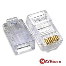 10 x RJ45 Cat5e Ethernet Network LAN Cable Lead Crimp End Plug Connector