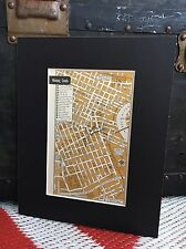 City Map of Winnipeg Canada 1958 Mid Century Black Matted 8x10 Art Print travel