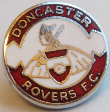 DONCASTER ROVERS FC Rare vintage badge Maker W.O LEWIS B'ham Brooch pin 19mm Dia