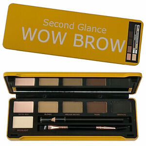 Eyebrow Kit Brow Second Glance Wow Complete Shaping Powder Wax Pencil Brush Tin