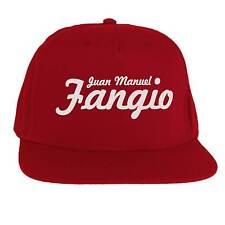 Cappello Juan Manuel Fangio, SnapBack Cap Rosso Ferrari Alfa Romeo, Formula 1