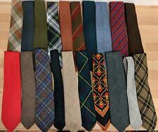 Job lot x 20 tweed solids stripe check tartan wool & textile ties #2