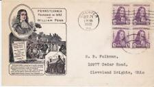 First day cover, Sc #724 BL4, Penn, Planty 12 & 7, Ioor/DelCo CoC cachets, 1932
