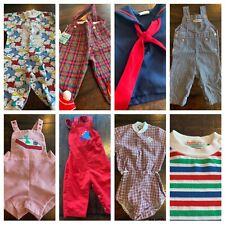 Vtg Lot Clothes Boys 0 12 mo 60s 70s 80s Sun Suit Embroidered HealthTex Overalls