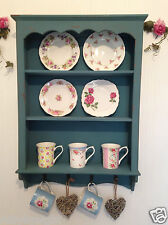 Shabby Chic Cabinet Wooden Wall Unit Vintage Shelf Blue Cupboard SECONDS RRP £60