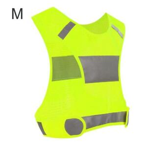 Reflective Safety Vest High Visibility Running Cycling Gear Night Sports❤TU
