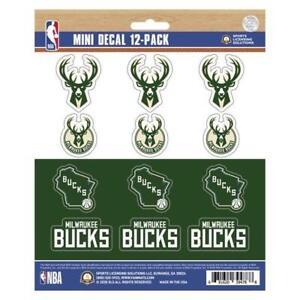Milwaukee Bucks Mini Decal 12 Pack [NEW] NBA Sticker Emblem Car Truck