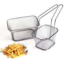 Stainless Sell Mini Chip Baskets Fryer Serving Food Presentation Basket Kitchen