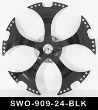 24 Inch Black Spinners Wheels Rims Fit Any Car Free S/H