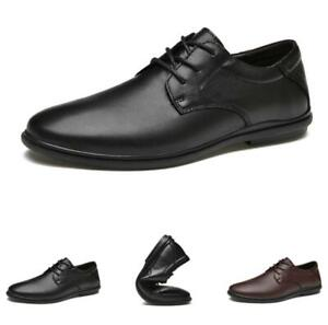 Mens Business Leisure Shoes Work Office Round Toe Oxfords Soft Lace up Formal L