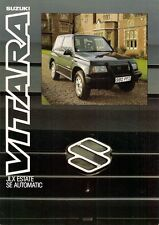 Suzuki Vitara JLX SE Estate Automatic 1989-90 UK Market Leaflet Sales Brochure