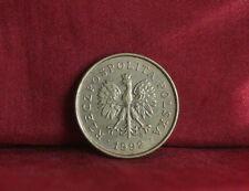 Poland 2 Grosze 1992 Brass World Coin Y277 Polska Eagle with Wings Polish Europe
