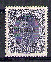 POLOGNE - POLSKA Yvert n° 83 neuf avec charnière