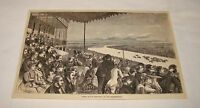 1879 magazine engraving ~ DERBY DAY IN ENGLAND