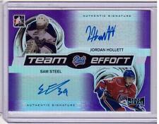 JORDAN HOLLETT SAM STEEL /15 Leaf Metal Rookie Team PURPLE Autograph Auto #2/5