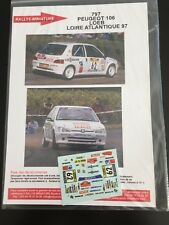 DECALS 1/43 PEUGEOT 106 SEBASTIEN LOEB RALLYE LOIRE ATLANTIQUE 1997 RALLY WRC