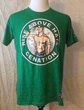 NWOT Men's WWE JOHN CENA Rise Above Hate Size 2XL (FITS LIKE LARGE!) Green NWD
