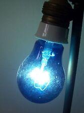 Alte blaue Kohlefaden Glühbirne E27 Heilstrahler blaues Licht  !
