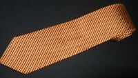 Brooks Brothers Tie Golden Yellow Stripe Woven Luxury Jacquard Gold Silk Necktie
