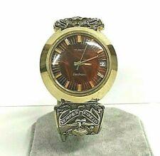 c. 1970 Timex Electronic Red Nebula Wristwatch G.F. U.S. Marine Corp