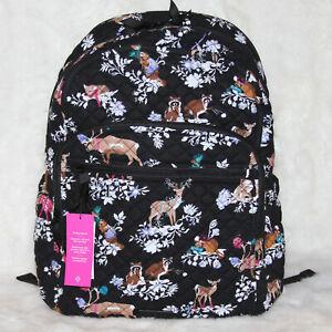 Vera Bradley LARGE Campus Backpack Bag Travel Laptop Bag Merry Mischief Deer