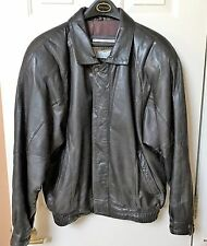Leather Jacket, J. Park Collection, Mens Medium, Brown