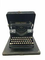 Vintage Orga Privat Bing Werke Typewriter W/ Steel Case- 3721