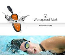 LAVOD Aquacube Waterproof MP3 Player 4GB Underwater Music Swim Earphones Bundle
