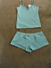 NEXT SAGE GREEN VEST TOP AND SHORTS  SIZE 14 NEW WITH TABS