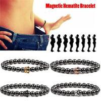 Magnetic Hematite Stone Beads Bracelet   Health Care Crown Bracelet ZP
