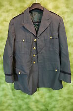 US Army Military Dress uniform Jacket  Coat class A  3 EM AG - 44 size 28 ?? M02