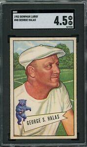 George Halas 1952 Bowman Large #48 ** SGC 4.5 ** Bears HOF/Top Football Card Set