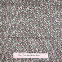 Calico Fabric - Heaven on Earth Green & Red Abstract - Northcott OOP YARD