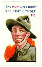 Anti-Hungary-HUN AIN'T BORN TO GET ME-WWI Postcard Propaganda Kaiser/Military
