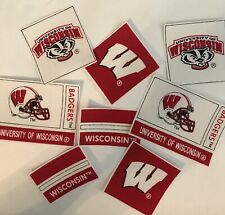 University Of Wisconsin- 8 Iron On Fabric Appliques - Sports Patches - Badgers