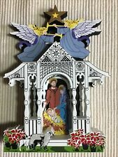 Shelia's Collectibles House - Town Square Nativity, Signed A/P