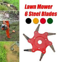 Toothed mower blade six-teeth grass trimmer head Carbide for garden agriculture