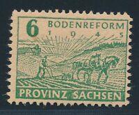 "SBZ 1945, Mi. 85 x a A **, ""Papierabart + Postmeister"" geprüft BPP!! Mi. 100,--"