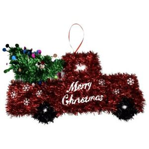 Merry Christmas Farmhouse Red Truck Wall Decor New