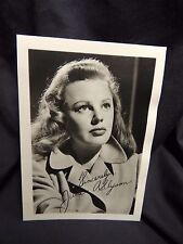 "Vtg Signed Autograph Studio Portrait Hollywood Movie Tv 3.5"" x 5"" June Allyson"