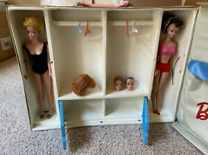 RARE Barbie and Midge in Official Carry Case both circa 1960
